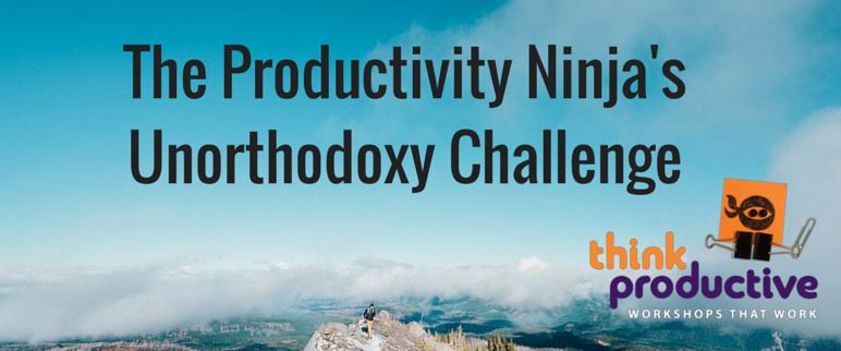 The Produtivity Ninja's Unorthodoxy